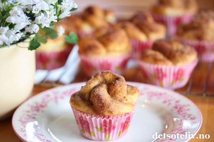 Roseboller med kanelsukker | Det søte liv
