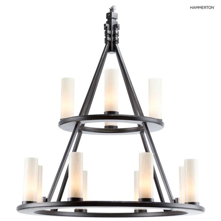 Description Craftsman Chandelier Dimensions48''H x 42''W x 42''D Lamping TypeIncandescent Bulb Quantity12 Max Wattage60 Watts  Spec Drawing | Tear Sheet