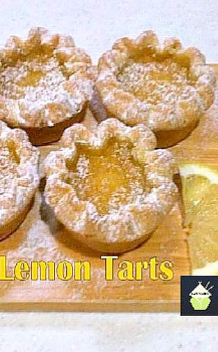 Lemon Tarts. Make mini tarts or a big one - You choose! #lemon #tart ...