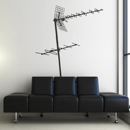 """Donnez une touche singulière et urbaine à votre pièce grâce à ce sticker """"Antenne 2""""."""