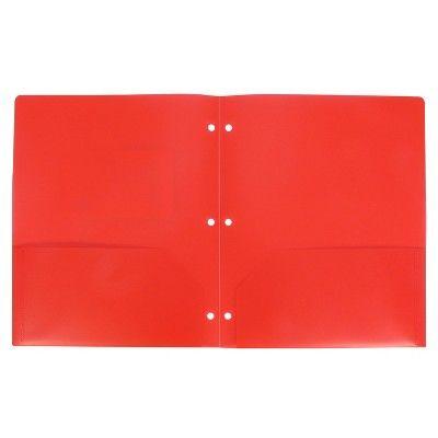 Plastic Folder 2 Pocket Red - up & up