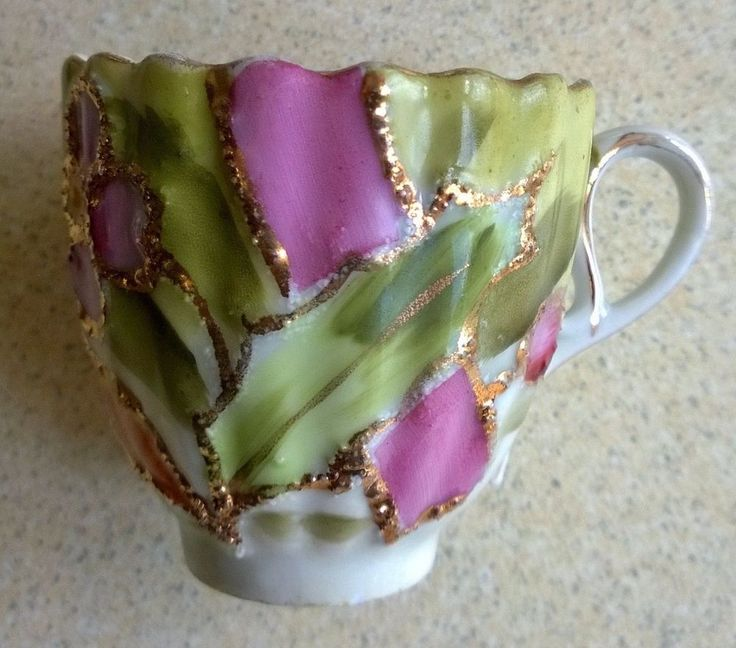 Colourful Small Cup in the Style of R S Prussia