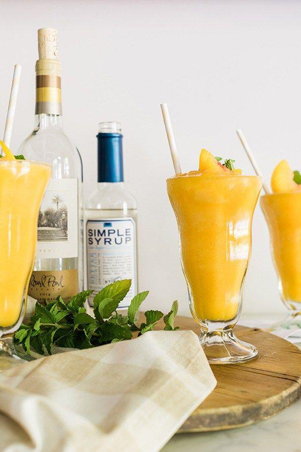 Peach white wine slushies recipe on waitingonmartha.com