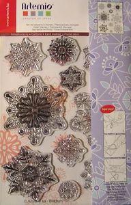 Clearstamps-Acrylstempel-Motivstempel-Set-Schneeflocken-2-Xmas-Artemio-10001295