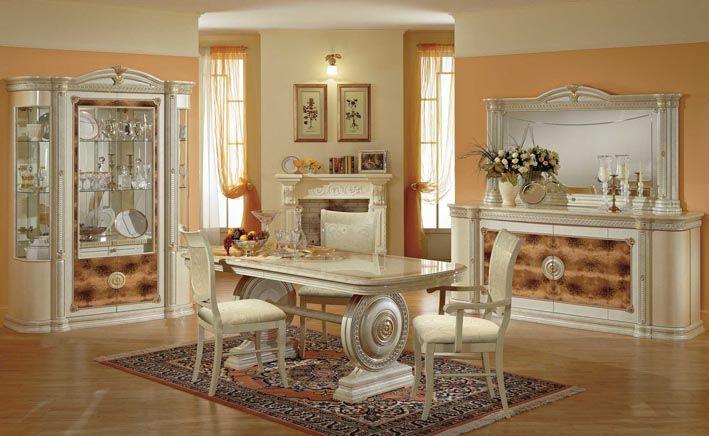 ensemble de meubles comprenant vitrine 2 portes buffet table manger 4 chaises miroir. Black Bedroom Furniture Sets. Home Design Ideas