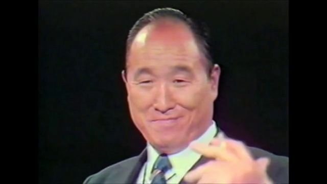 Rev. Sun Myung Moon is interviewed on American Television by Al Capp in 1972.