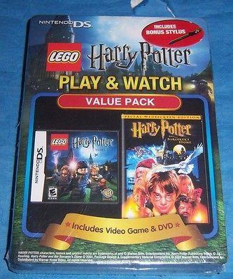 Nintendo DS LEGO Harry Potter Years 1-4 VIDEO GAME DVD & Bonus Mario Stylus NEW