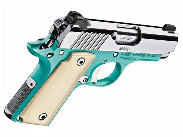 KIMBER MICRO 1911 BEL AIR BLUE .380 ACP 3300091 : Semi Auto Pistols at GunBroker.com