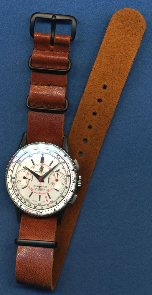 """NATO LEATHER STRAP BAND 24mm FITS 6.25"""" - 9.25"""" WRIST ZULU MILITARY 8 COLORS #Custom"""