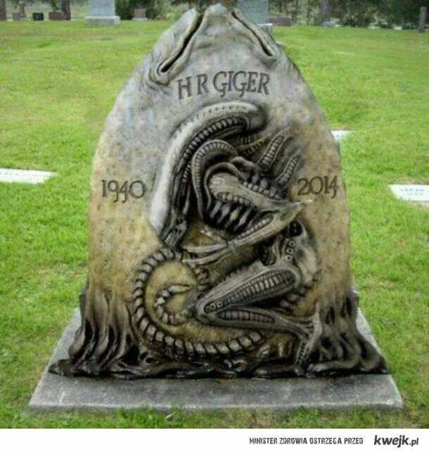 """Creator of the """"Alien"""" monsters, artist H.R. Giger is buried at the Cimetiere de Gruyeres, Fribourg, Switzerland."""
