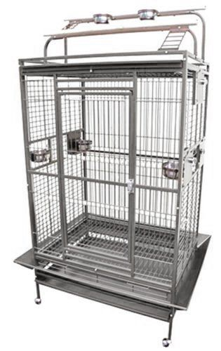 Cheap KINGS CAGES 8003628 Play Pen Bird Cage  36W x 28D x 68H PARROT CAGE 18X16X57 bird cages toy toys Parakeet Canary cockatiel lorie (GREY/SILVER) https://birdhousesforoutside.info/cheap-kings-cages-8003628-play-pen-bird-cage-36w-x-28d-x-68h-parrot-cage-18x16x57-bird-cages-toy-toys-parakeet-canary-cockatiel-lorie-greysilver/