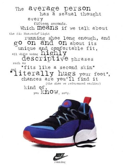 An original ad from 1993 for the Nike Air Huarache Light.