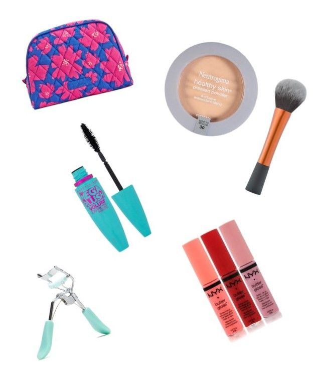 """""""6th Grade Makeup Bag"""" by g-audrey-k on Polyvore featuring beauty, Vera Bradley, Neutrogena, Maybelline, NYX and Forever 21"""