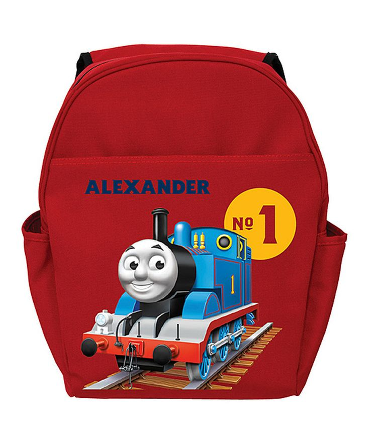 Another great find on #zulily! Red 'No. 1' Thomas & Friends Personalized Backpack by TV's Toy Box #zulilyfinds