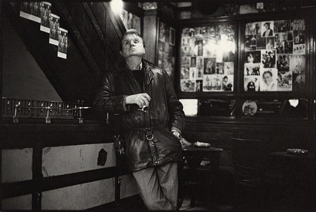 A candid shot of Francis Bacon drinking in Soho's 'French House', December 14th 1984. (Image: Neil Libbert, via 'The Guardian'