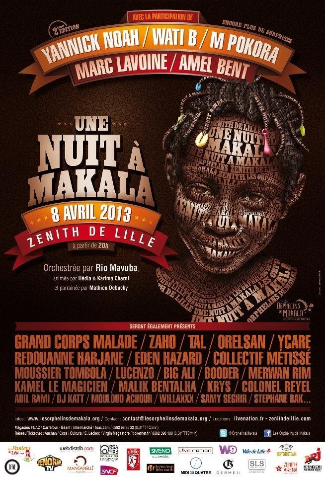 Une Nuit à Makala 2ème édition le lundi 8 avril 2013 au Zénith de Lille