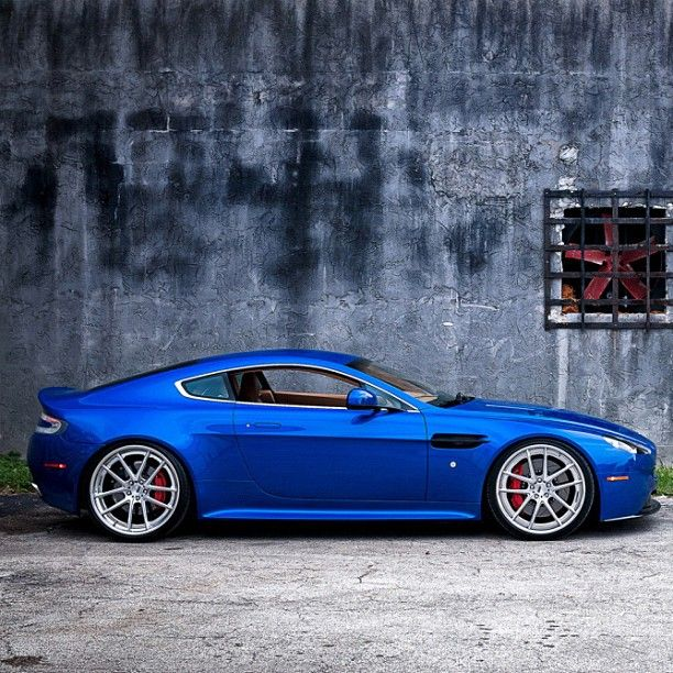 Aston Martin - looks damn cool in blue.
