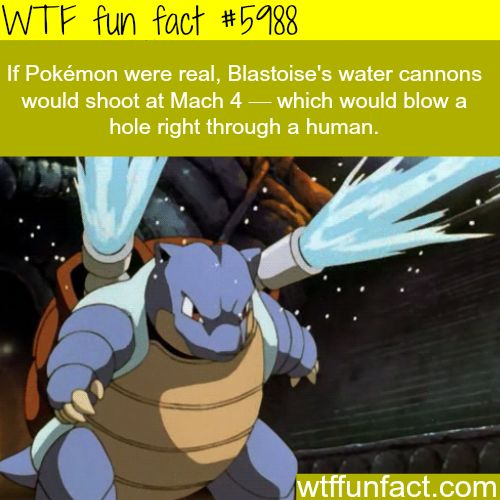 If Pokemon were real - WTF fun facts - http://didyouknow.abafu.net/facts/if-pokemon-were-real-wtf-fun-facts