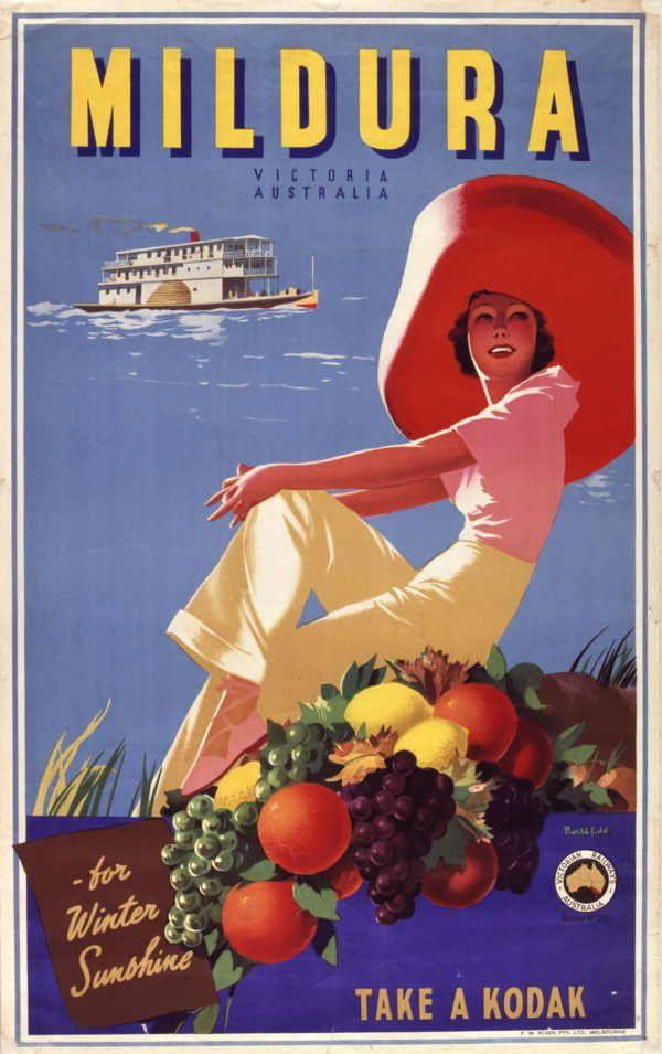 Vintage Travel Poster: Mildura~ Victoria, Australia