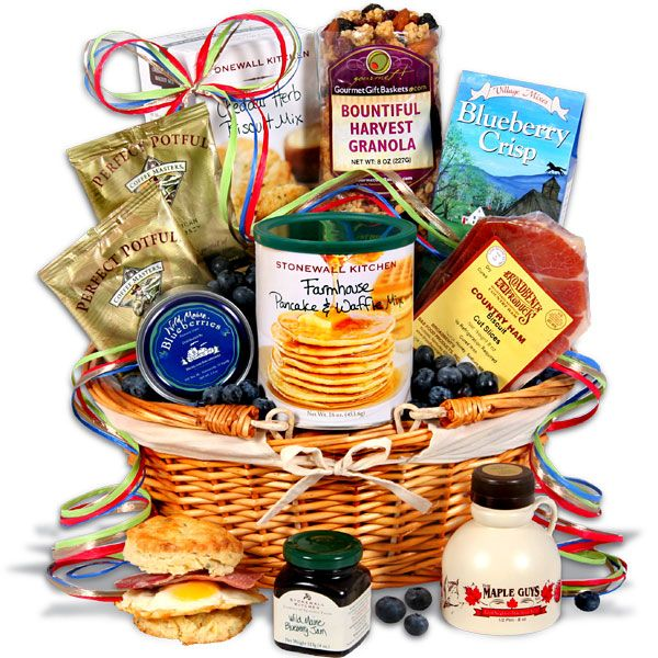 55 best gift baskets plus images on pinterest gift baskets christmas morning breakfast gift basket negle Images