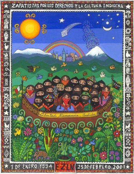 'EZLN al DF', Beatriz Aurora / EZLN, pintura, arte zapatista