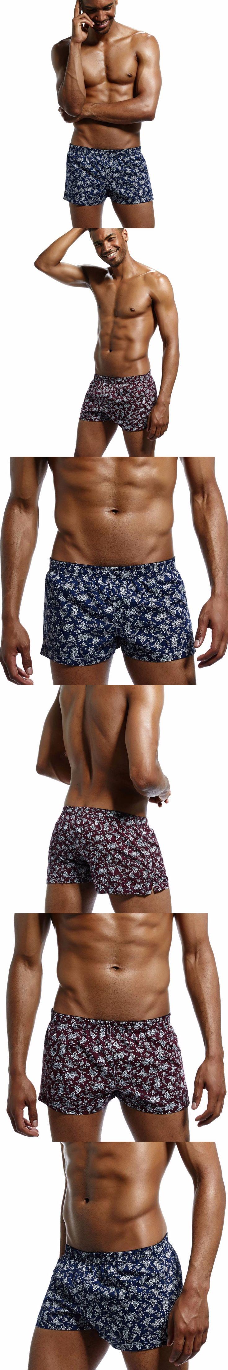 2017 new  High Quality 100% cotton underwear fashion sleep Shorts  men home Loose pants Summer Leisur cotton shorts plus size