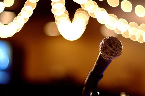 Singing, and I have always loved singing with microphones ...