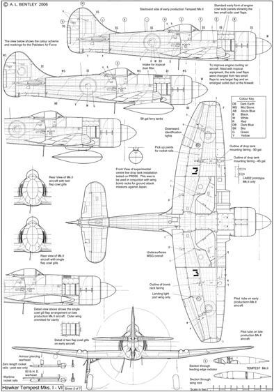 hawker tempest cockpit coloring pages | 2990 best images about Aviation Art on Pinterest
