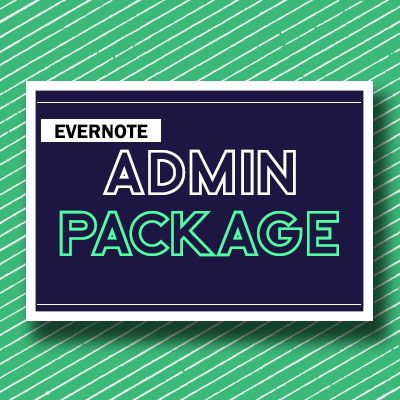 Evernote Art Therapy Admin Package