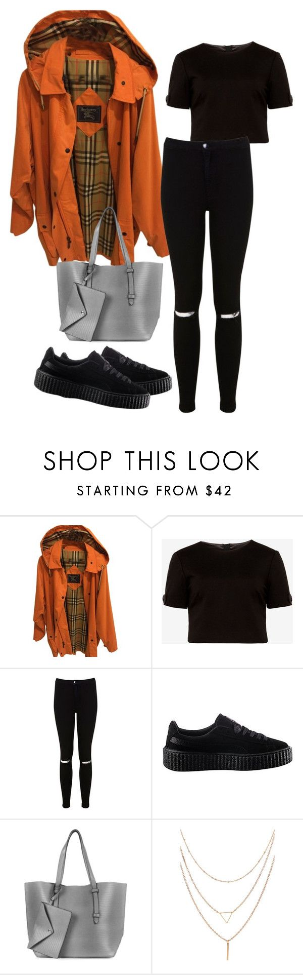 """Sin título #301"" by franciscagomezm on Polyvore featuring moda, Burberry, Ted Baker, Miss Selfridge, Puma y Topshop"