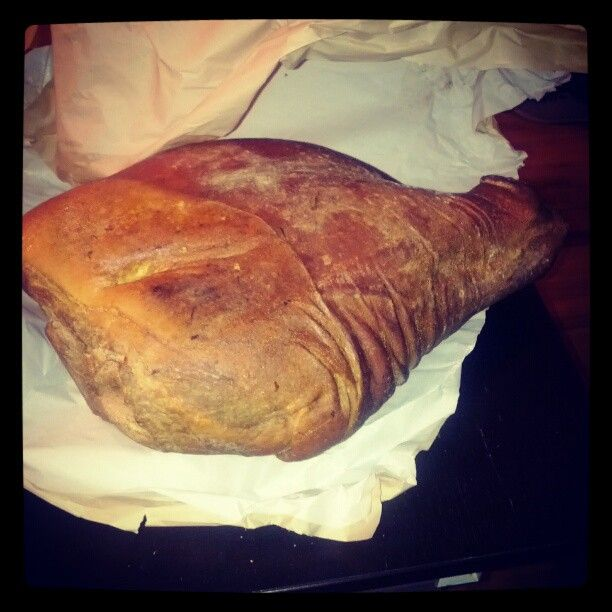 Impulse buy of the month.  Benton's cured country ham. Aged 14 months.  Amazing