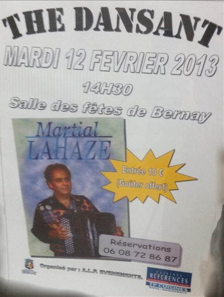 """""""Thé dansant"""" à Bernay salle des fêtes le 12 février 2013..."""
