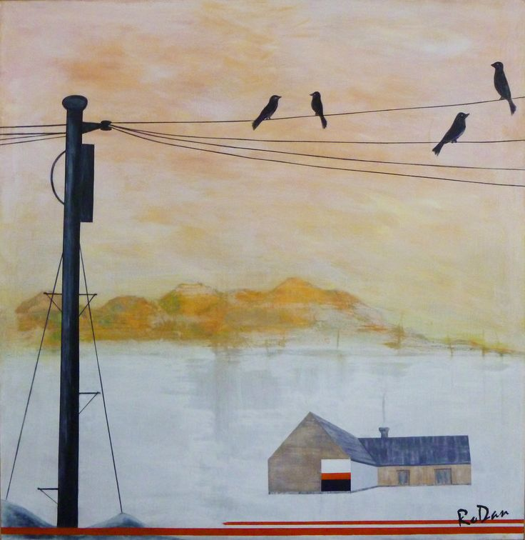 """""""Conversations On Line"""" by Robyn Dansie. Paintings for Sale. Bluethumb - Online Art Gallery"""