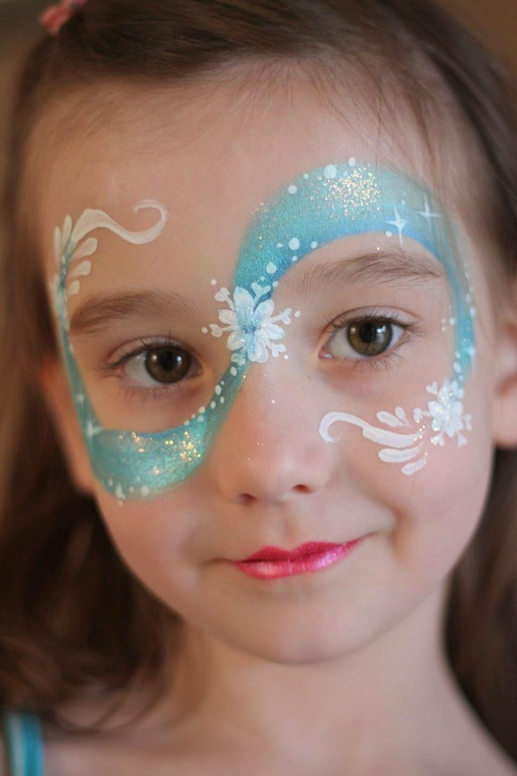 Halloween face paint ideas 2015 - snowflake, Elsa, makeup