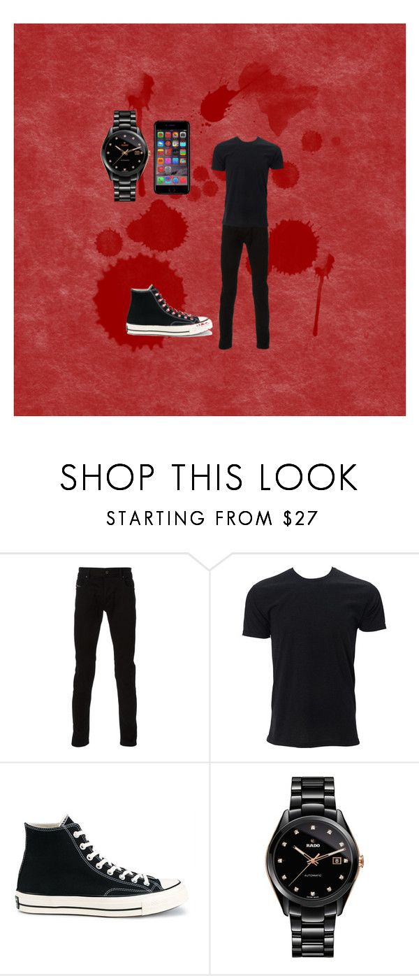 """""""Danisnotonfire"""" by missheru ❤ liked on Polyvore featuring Diesel, Simplex Apparel, Converse, Rado, Off-White, men's fashion and menswear"""
