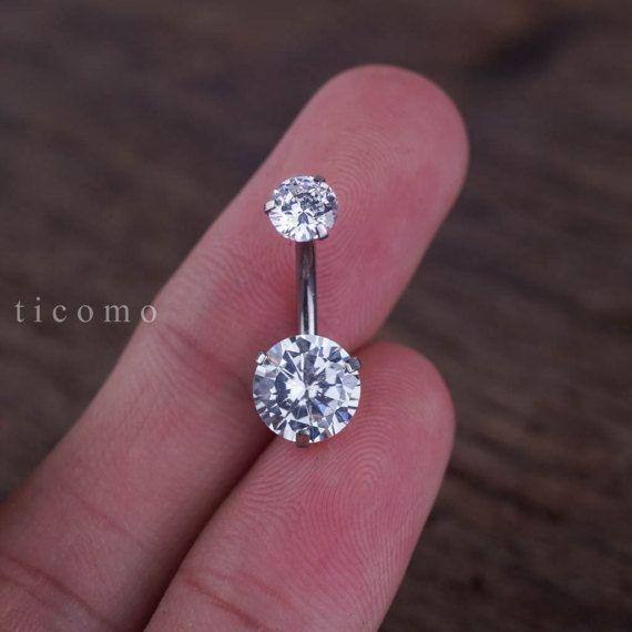 vientre anillo ombligo anillo ombligo joyas zircon
