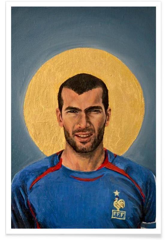 Football Icon - Zinedine Zidane 2006 en Affiche premium par David Diehl | JUNIQE