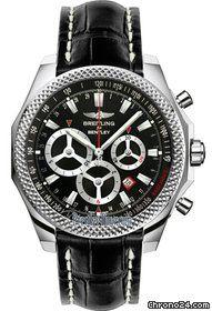 Breitling Bentley Barnato Racing chronograph $8,860 #breitling #bentley #watch #watches #chronograph steel case crocodile skin bracelet