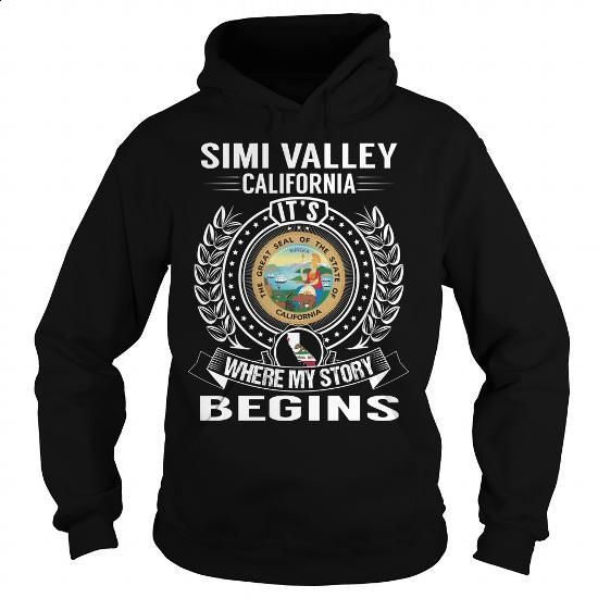 Simi Valley, California Its Where My Story Begins - #fleece hoodie #geek t…