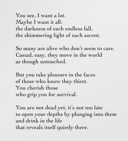 You See I Want a Lot - Rainer Maria Rilke