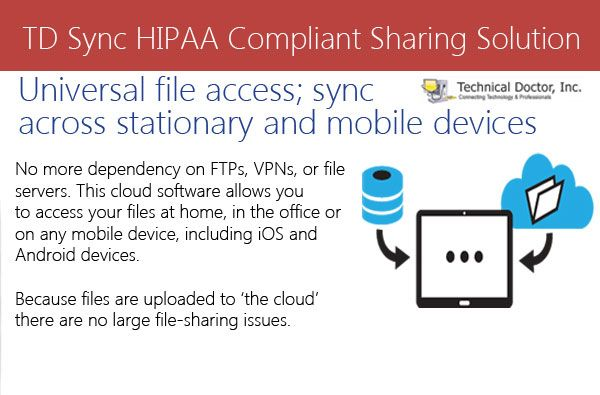 Universal file access; sync across stationary and mobile devices