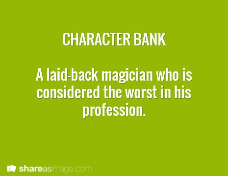 character bank: put him in a steampunk world