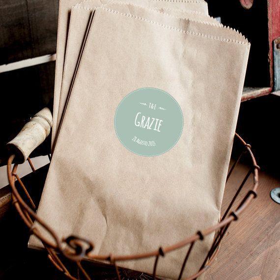 Sacchetti in carta personalizzabili di GoodLifeEventi su Etsy