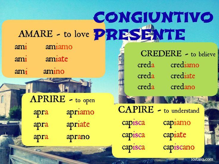 Not so famous subjunctive - Il congiuntivo | Lesson of Italia