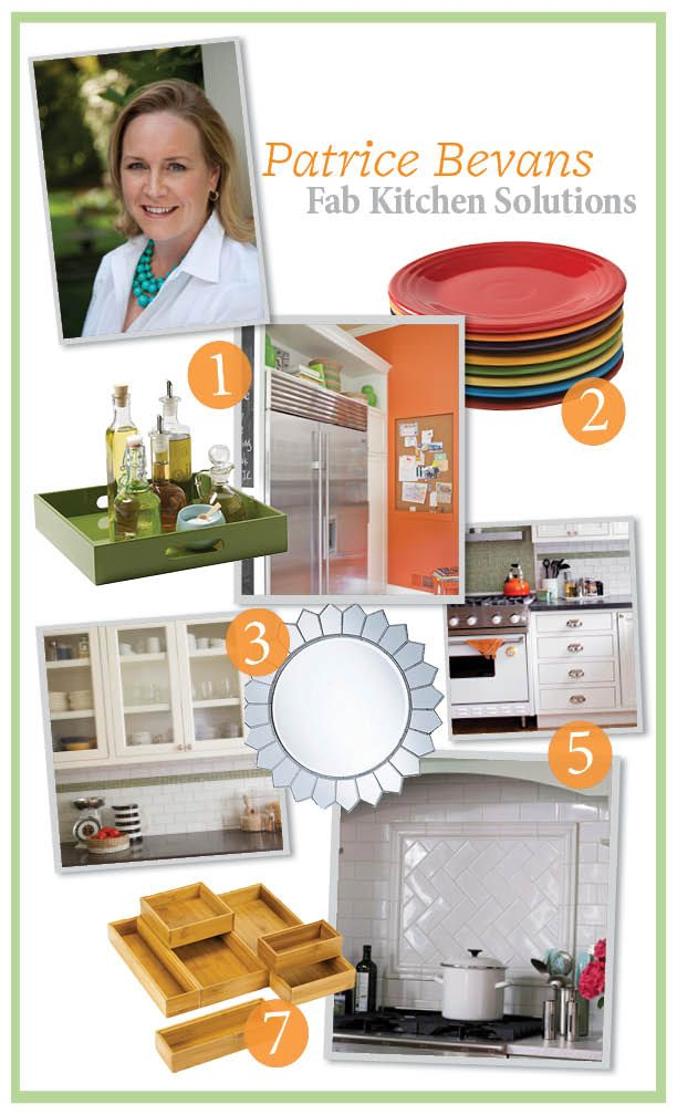 Designer Patrice Bevans answered our kitchen style and storage questions! Get her tips here: http://www.bhg.com/blogs/better-homes-and-gardens-style-blog/2012/06/29/patrice-bevans-kitchen-solutions/?socsrc=bhgpin070912: Kitchens Style, Style Spotter, Nice Ideas, Bhg Style