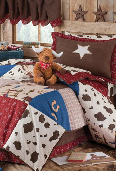 Little Cowboy Bedding Set - I need this for Cole'd room.