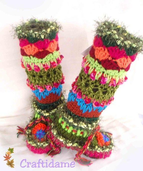 How To Crochet Slippers - Easy To Make Crochet Slippers - Patterns