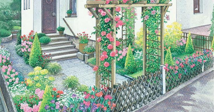 Ein vorgarten romantisch oder rustikal gartenideen for Gartengestaltung rustikal