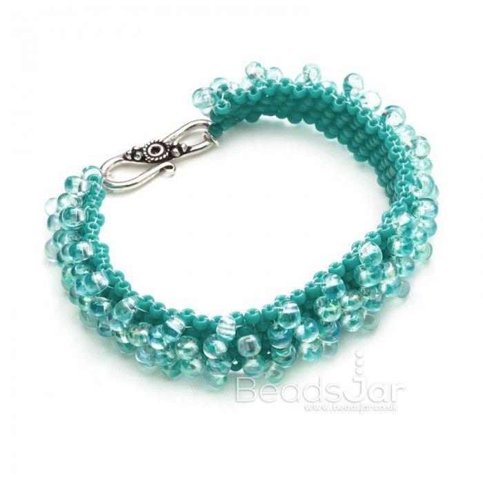 Aqua Droplet Bracelet
