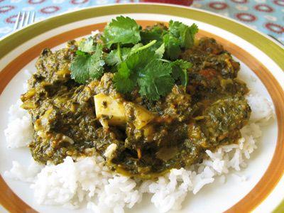 Palak paneer - indisk spenat- och ostgryta